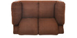 Jude Two Seater Sofa in Coffee Brown Colour by @home