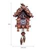 Kairos Korean Wood 16 x 6 x 22 Inch Traditional Musical Quartz Cuckoo Clock