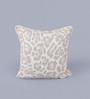 KEH Multicolour Wool & Cotton Embroidery 14 x 14 Inch Artistic Handmade Chain Stitch Cushion Cover