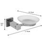 Klaxon Kristal 103 Silver Stainless Steel Soap Case - Set of 3 (Model: G0193IT0012-3p)