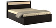 Kosmo Marina Queen Bed with Box Storage in Natural Wenge Color by Spacewood