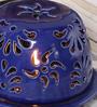 Kokoon Blue Ceramic Tea Light Holder