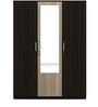 Kosmo Stark Three Door Wardrobe in Fumed Oak & Mountain Larch Finish by Spacewood