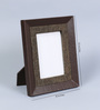 Kraftsmen Brown Faux Leather & Fabric 8 x 10 Inch Photo Frame