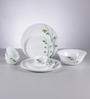 La Opala Diva Green Foliage Opal Ware 13-piece Dinner Set