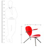 La-Simone Chair in Red Colour by Tube Style