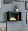 La Stella Black Wood & MDF Alejandro Floating Wall Shelf