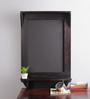 La Stella Walnut Wood & MDF Shelf with Blackboard