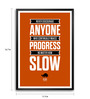 Lab No.4 - The Quotography Department Paper & PU Frame 11.9 x 16.7 Inch Plato Progress Quote Framed poster