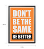 Lab No.4 - The Quotography Department Paper & PU Frame 11.9 x 16.7 Inch Paper Framed poster