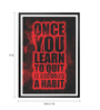 Lab No.4 - The Quotography Department Paper & PU Frame 12 x 1 x 17 Inch Once You Learn To Quit Gym Quote Framed Poster