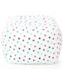 Large Cotton Canvas Star Design (Square Shaped) Ottoman with Beans by Style Homez