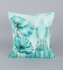 Leaf Designs Teal Poly Duck Cushion Cover