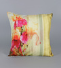 Leaf Designs Yellow Poly Duck Stripes Cushion Cover