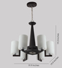 LeArc Designer Lighting CH119 Glass & Wood Chandelier