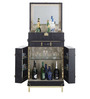Leather Bar Cabinet by Magus Designs