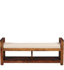 Fife Upholstered Bench in Provincial Teak Finish by Woodsworth