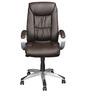 Libra High Back Executive Chair in Brown Colour by Nilkamal