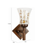 Lime Light White & Silver Glass & Wood Wall Lamp