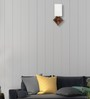 Lime Light White Glass & Wood Wall Lamp