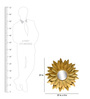 Logam Gold Iron Blooming Flower Mirror