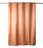 Lushomes Orange Polyester 82 x 72 Shower Curtain