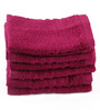 Lushomes Pink Cotton 12 x 12 Face Towel - Set of 6