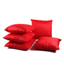 Lushomes Red Polyester 16 x 16 Inch Embossed Blackberry Cushion Cover - Set of 5