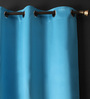 Lushomes Tac Polyester 108 x 54 Inch Plain Blackout Long Door Curtain with 8 Metal Eyelets - Set of 2