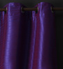 Lushomes Wine Polyester 90 x 54 Inch Twinkle Star 8 Eyelets Door Curtain with Blackout Lining - Set of 2