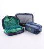 M Square Smart Traveller Water proof Nylon & Breathable Mesh Navy Blue Organiser - Set of 7