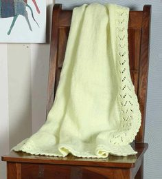 Magic Needles Classic Bordered Blanket In Yellow Colour