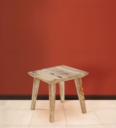 Magix End Table In Natural Wood Finish By @Home