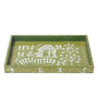 Manomay Kreations Multicolour Wooden Decorative Tray