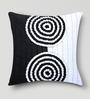Mapa Home Care White & Black Duppioni 16 x 16 Inch Textured Cushion Cover