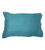 Mark Home Cyan Cotton Pillow Cover - Set of 2