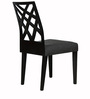Marla Dining Chair (Set of 2) in Black Colour by CasaCraft