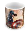Marvel Civil War-Captain Theme Multicolour Ceramic 350 ML Mug