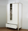 McBaloo Two Door Wardrobe with Drawers in Velvet White Finish by Mollycoddle