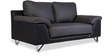 Mesa Two Seater Sofa in Smoke Grey & Eerie Black Colour by Durian