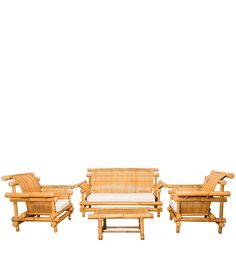Merak Patio Living Set (2S + 1S + 1S + CT) In Natural By Indigrass