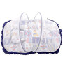 Mee Mee Baby Mattress Set with Mosquito Net & Pillow in Blue