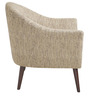 Modern Accent Chair with Round Back and Slanted Wooden Square Legs