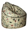 Muddha Sofa Bean Bag with Beans with Stamps Print by Sattva