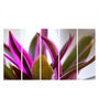 Multiple Frames Printed Purple Leaves Panels like Painting - 5 Frames