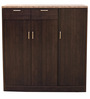 Murano Three Door Multipurpose Cabinet in Wenge Colour by HomeTown