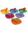My Gift Booth Chappal Multicolour Felt Coaster - Set of 6