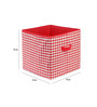 My Gift Booth Checks Red 10 L Big Storage Box