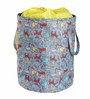 My Gift Booth Multi-Purpose Nylon 20 L Grey & Yellow Hamper