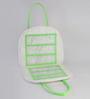 My Gift Booth Quilted Nylon White & Green Jewellery Bag
